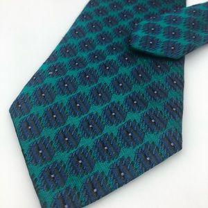 Fendi Roma 100% silk Turquoise purple neck tie